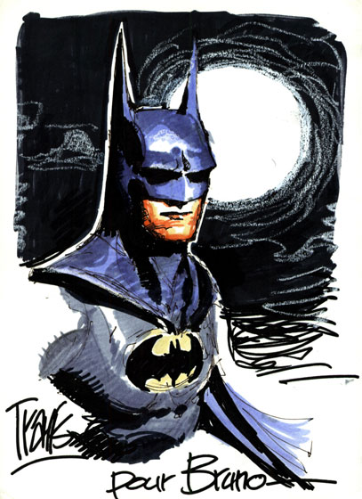 Colored Batman Sketch