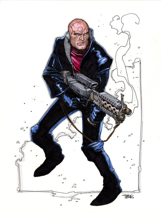 Metabaron with a machine gun