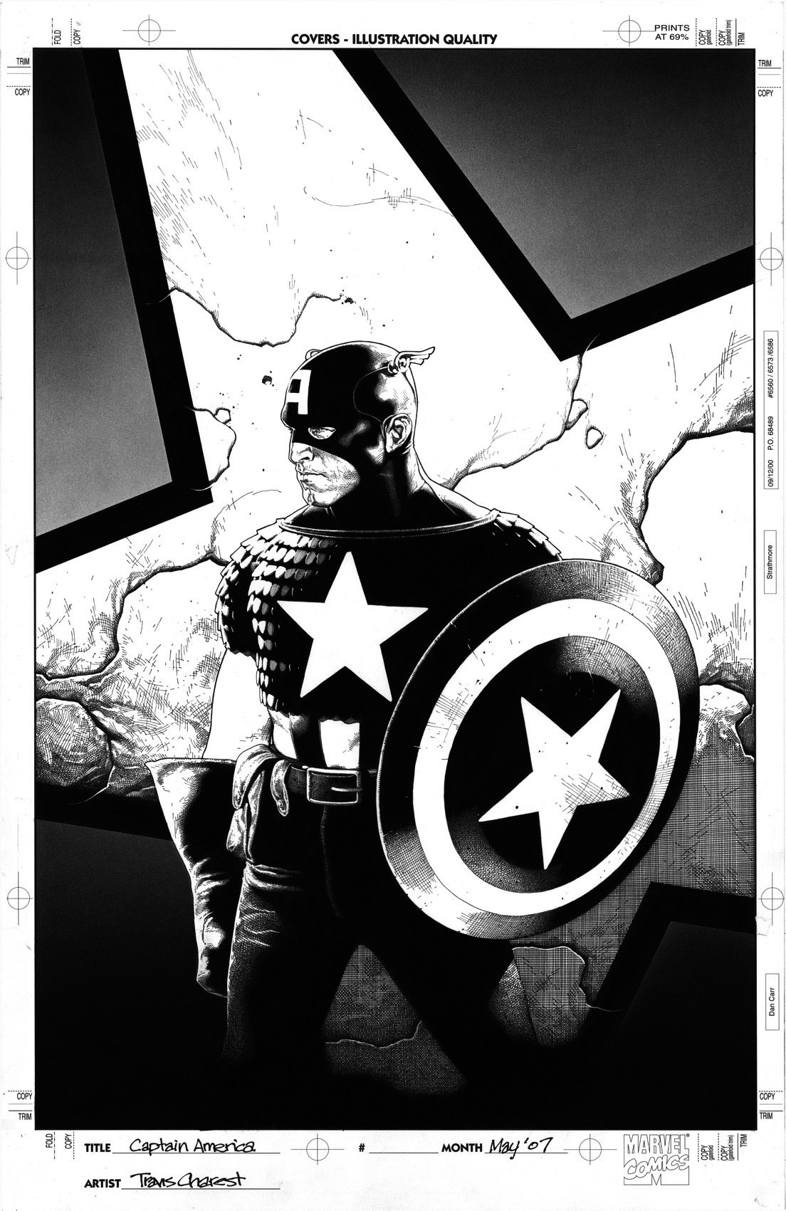Very Large version of Captain America  The Chosen cover by Travis Charest