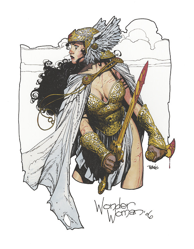 Wonder Woman warrior sketch