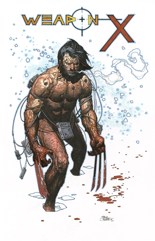 Weapon X sketch by Travis Charest