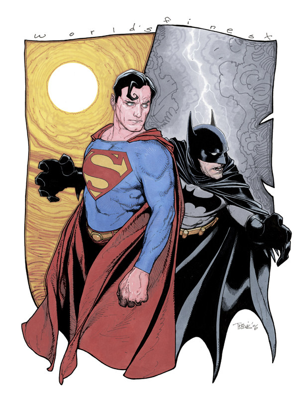 Superman and Batman World's Finest Sketch