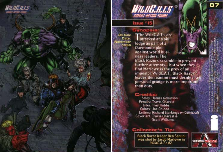 WildC.A.T.s Card Issue #15