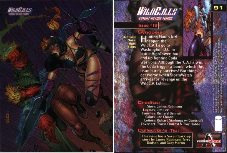 WildC.A.T.s Card Issue #19